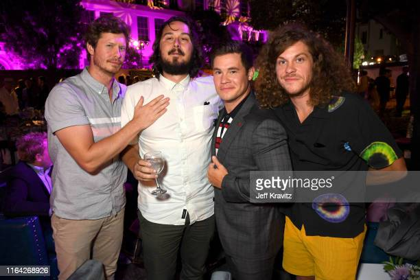 Anders Holm Kyle Newacheck Adam DeVine and Blake Anderson attend HBO's The Righteous Gemstones premiere at the Paramount Theatre on July 25 2019 in...