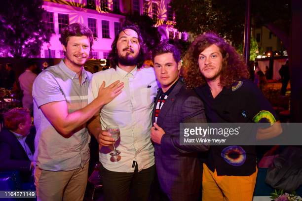 Anders Holm Kyle Newacheck Adam DeVine and Blake Anderson attend the Los Angeles Premiere of New HBO Series The Righteous Gemstones at Paramount...