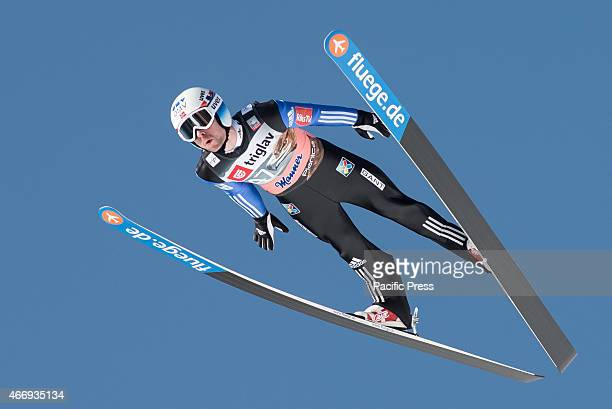 Anders Jacobsen of Norway competes during FIS World Cup Planica Flying Hill Individual Ski Jumping in Planica Slovenia Ski jumping is a form of...