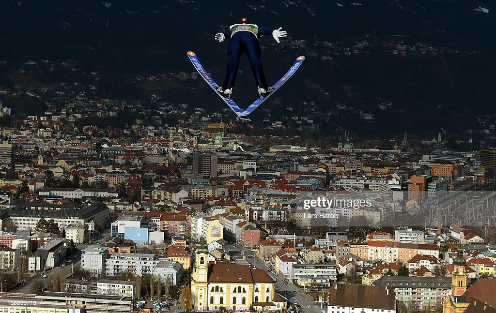 Anders Jacobsen of Norway competes during the training round for the FIS Ski Jumping World Cup event of the 61th Four Hills ski jumping tournament at Bergisel-Stadion on January 3, 2013 in Innsbruck, Austria.