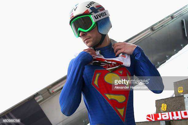 Anders Jacobsen of Norway competes on day 5 of the Four Hills Tournament Ski Jumping event at BergiselSchanze on January 3 2015 in Innsbruck Austria