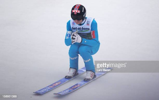Anders Jacobsen of Norway looks dejected after the final round for the FIS Ski Jumping World Cup event of the 61st Four Hills ski jumping tournament...