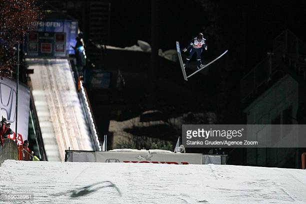 Anders Jacobsen of Norway taks 2nd place during the FIS Ski Jumping World Cup Vierschanzentournee on January 06 2013 in Bischofshofen Austria