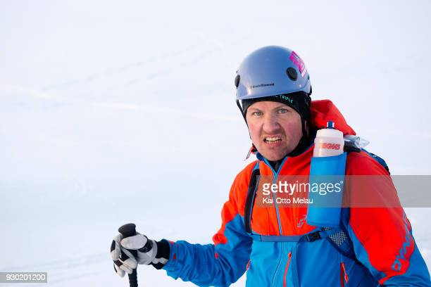 Anders Jorgensen at The Arctic Triple Lofoten Skimo on March 10 2018 in Svolvaer Norway Lofoten Skimo is one of three races organized under The...