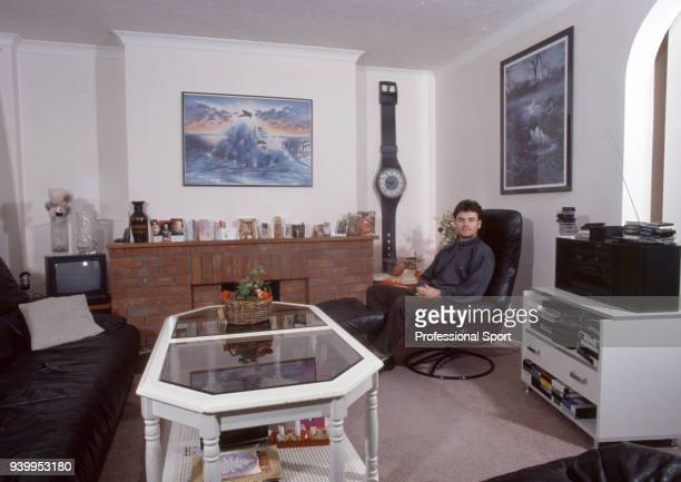 Anders Limpar of Arsenal at home in London circa 1991