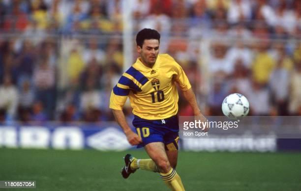 Anders Limpar of Sweden during the European Championship match between Sweden and France at Rasunda Stadium Solna Sweden on 10 June 1992