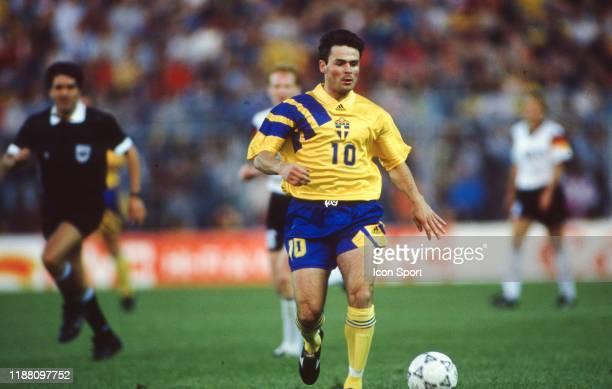 Anders Limpar of Sweden during the European Championship match Germany and Sweden at Rasunda Stadium Solna Sweden on 21 June 1992