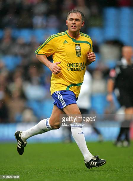 Anders Limpar playing for the Rest of the World team in the Professional Footballers Association Centenary match