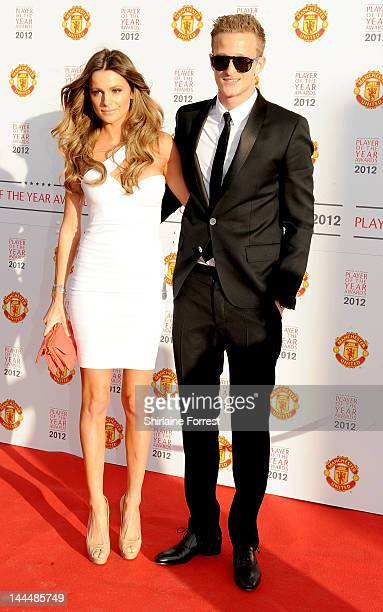 Anders Lindegaard and Missé Beqiri attend the Manchester United Player Of The Year Awards at Old Trafford on May 14 2012 in Manchester England