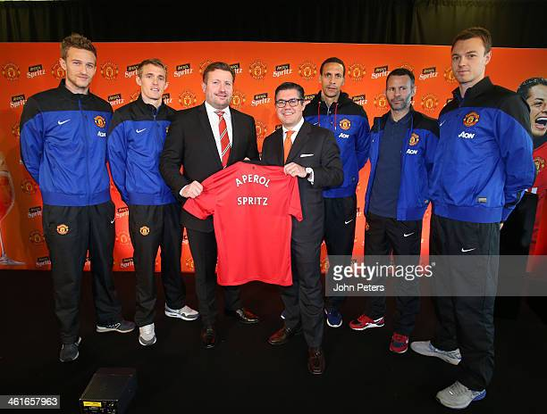 Anders Lindegaard Darren Fletcher Manchester United Group Mananging Director Richard Arnold CEO of Gruppo Campari Bob KunzeConcewitz Rio Ferdinand...