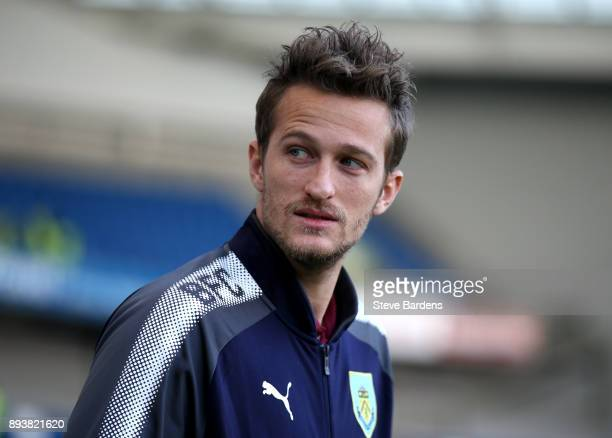 Anders Lindegaard of Burnley walks out to take a look at the stadium prior to the Premier League match between Brighton and Hove Albion and Burnley...