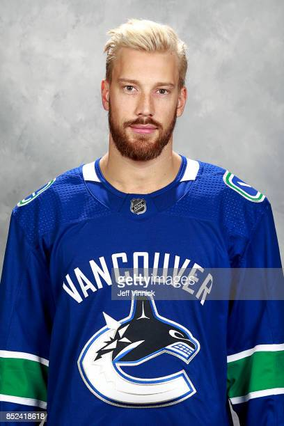 Anders Nilsson of the Vancouver Canucks poses for his official headshot for the 20172018 season on September 12 2017 at Rogers Arena in Vancouver...