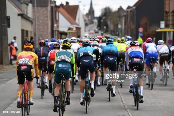 Anders Skaarseth of Norway and UNO - X Pro Cycling Team, Wout Van Elzakker of Netherlands and Team Vini Zabu' Brado KTM, Yevgeniy Fedorov of...