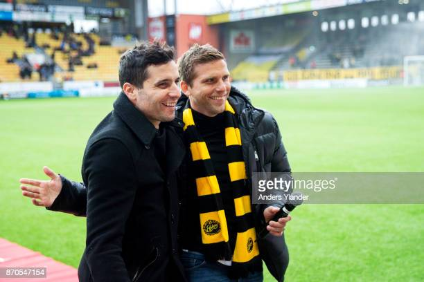 Anders Svenmsson former player in IF Elfsborg prior to the Allsvenskan match between IF Elfsborg and IFK Norrkoping at Boras Arena on November 5 2017...