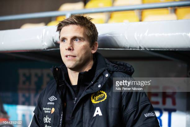 Anders Svensson assistant coach of IF Elfsborg during the Allsvenskan match between IF Elfsborg and BK Hacken at Boras Arena on October 1 2018 in...