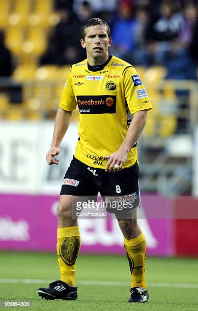 Anders Svensson of IF Elfsborg during the Allsvenskan League match between IF Elfsborg and BK Hacken held on October 25 2009 at the Boras Arena in...