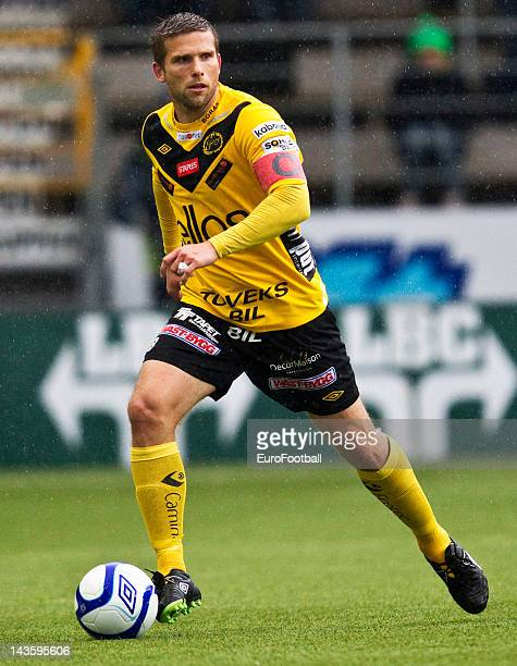 Anders Svensson of IF Elfsborg in action during the Swedish Allsvenskan League match between IF Elfsborg and GAIS Goteborg held on April 26 2012 at...