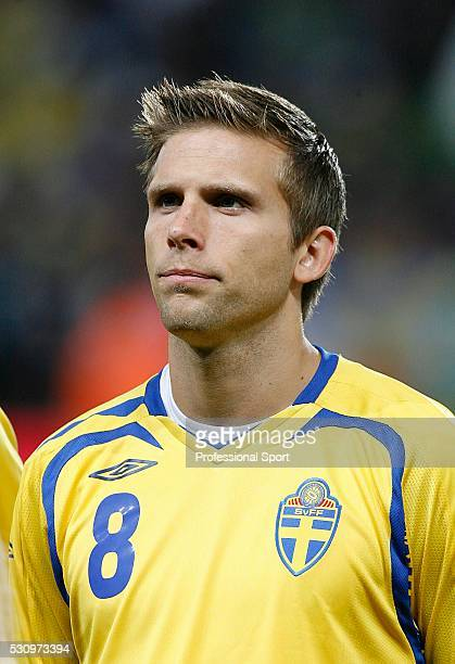 Anders Svensson of Sweden in action during the Brazil v Sweden International Match at The Emirates Stadium London UK
