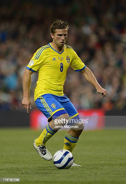 Anders Svensson of Sweden in action during the FIFA 2014 World Cup Qualifying Group C match between Republic of Ireland and Sweden at Aviva Stadium...