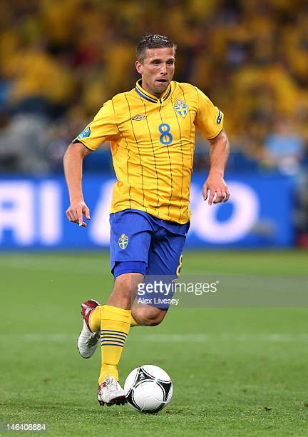 Anders Svensson of Sweden in action during the UEFA EURO 2012 group D match between Sweden and England at The Olympic Stadium on June 15 2012 in Kiev...
