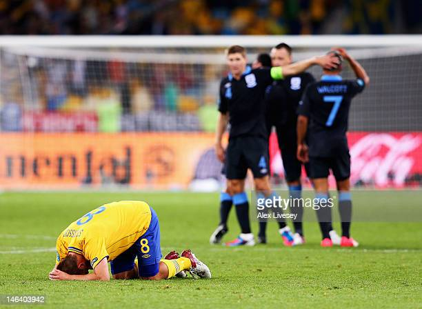 Anders Svensson of Sweden reacts after the UEFA EURO 2012 group D match between Sweden and England at The Olympic Stadium on June 15 2012 in Kiev...