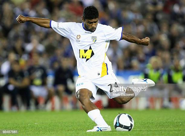 Anderson Alves DaSilva of United kicks the ball during the round 16 ALeague match between the Melbourne Victory and Gold Coast United at Etihad...