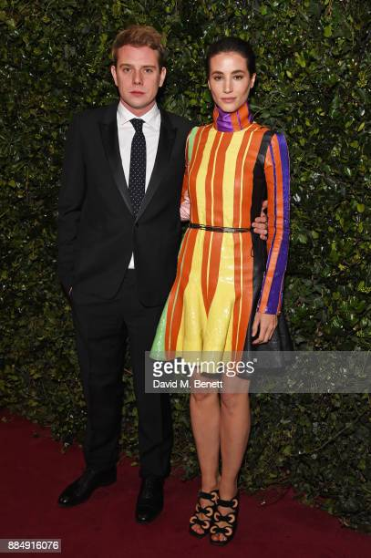 W Anderson and Elisa Lasowski attend the London Evening Standard Theatre Awards 2017 at the Theatre Royal Drury Lane on December 3 2017 in London...