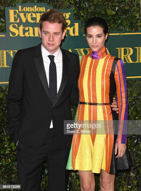 W Anderson and Elisa Lasowski attend the London Evening Standard Theatre Awards at the Theatre Royal on December 3 2017 in London England