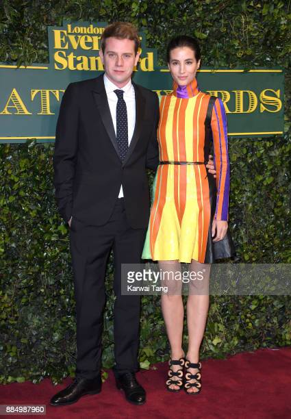 Anderson and Elisa Lasowski attend the London Evening Standard Theatre Awards at Theatre Royal on December 3 2017 in London England