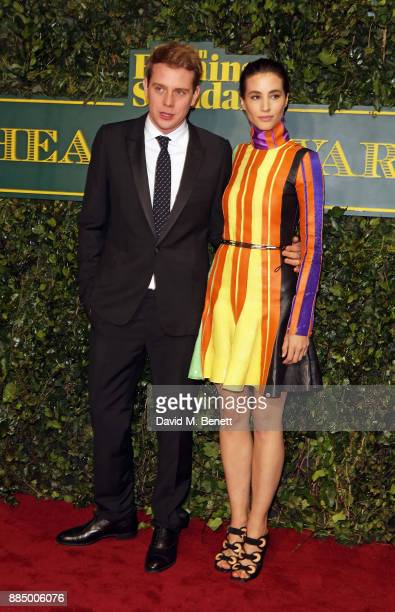 W Anderson and Elisa Lasowski attend the London Evening Standard Theatre Awards at Theatre Royal on December 3 2017 in London England
