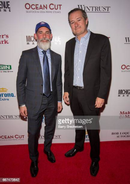P Anderson and Tom Ricketts during the Michigan Avenue Magazine's cover party at Ocean Cut on April 11 2017 in Chicago Illinois