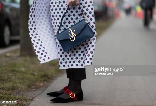 Anderson bag outside Munthe during the Copenhagen Fashion Week Autumn/Winter 17 on February 2 2017 in Copenhagen Denmark