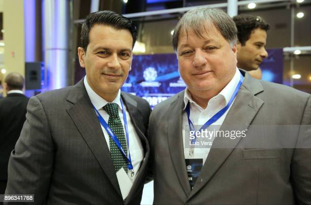 Anderson Barros Manager of Vasco da Gama and Rui Costa Manager of Chapecoense pose during the Official Draw of the Copa Libertadores and Sudamericana...