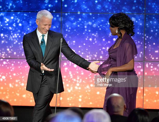 Anderson Cooper and Antoinette Tuff speak onstage at 2013 CNN Heroes: An All Star Tribute at The American Museum of Natural History on November 19,...