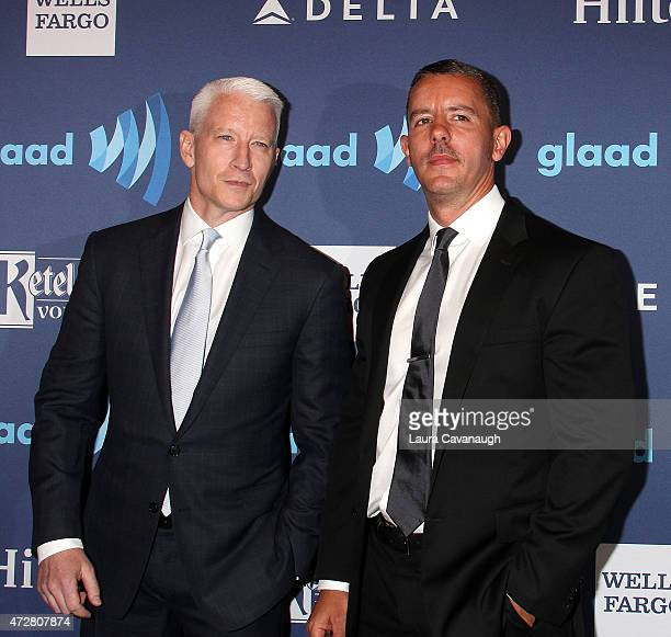 Anderson Cooper and Benjamin Maisani attend 26th Annual GLAAD Media Awards at The Waldorf Astoria on May 9 2015 in New York City