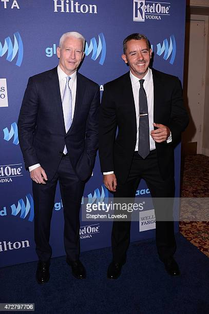 Anderson Cooper and Benjamin Maisani attend the 26th Annual GLAAD Media Awards In New York on May 9 2015 in New York City