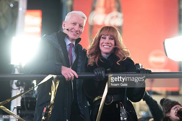 Anderson Cooper and Kathy Griffin host 'New Year's Eve Live' on CNN during New Year's Eve 2017 in Times Square on December 31 2016 in New York City
