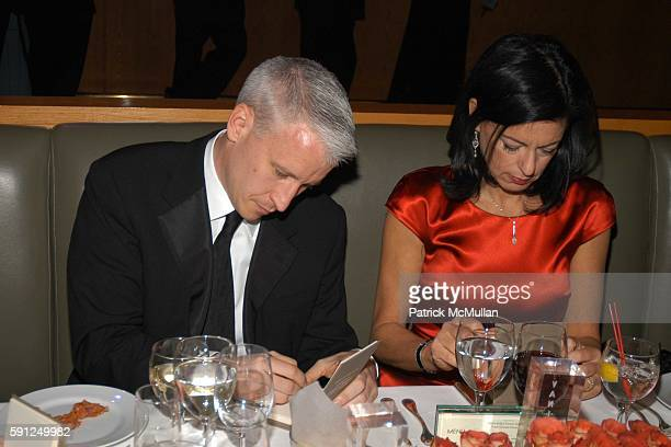 Anderson Cooper and Laurie David attend Vanity Fair Oscar Party at Morton's Restaurant on February 27 2005 in Los Angeles California