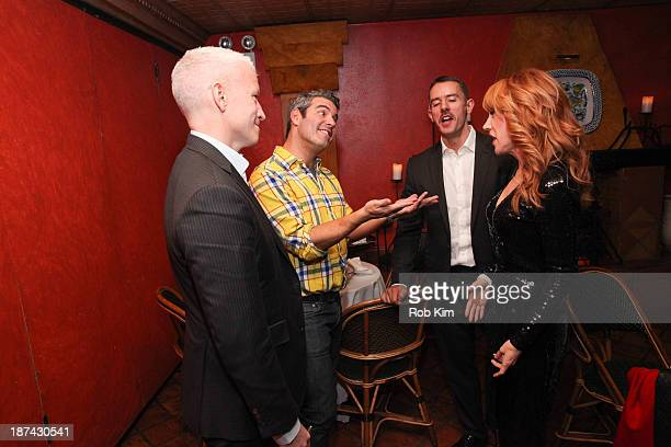 Anderson Cooper Andy Cohen Benjamin Maisani and Kathy Griffin attend Kathy Griffin's Carnegie Hall Performance official after party hosted by...