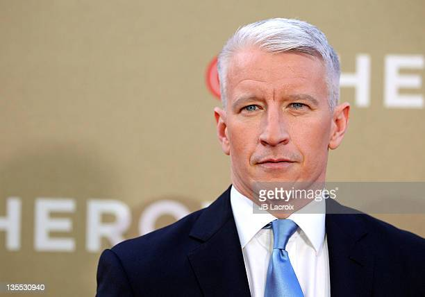 Anderson Cooper arrives at the 2011 CNN Heroes: An All-Star Tribute held at The Shrine Auditorium on December 11, 2011 in Los Angeles, California.