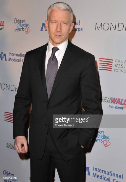 Anderson Cooper arrives at the Children Mending Hearts Gala at the House Of Blues on February 18 2009 in Los Angeles California