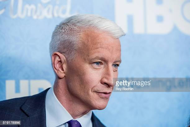 Anderson Cooper attends 'Nothing Left Unsaid' Premiere at Time Warner Center on April 4 2016 in New York City