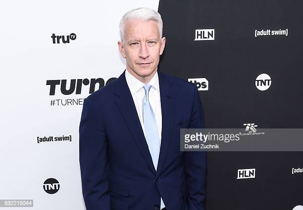 Anderson Cooper attends the 2016 Turner Upfront at Nick Stef's Steakhouse on May 18 2016 in New York New York