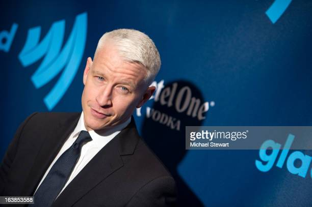 Anderson Cooper attends the 24th annual GLAAD Media awards at The New York Marriott Marquis on March 16 2013 in New York City