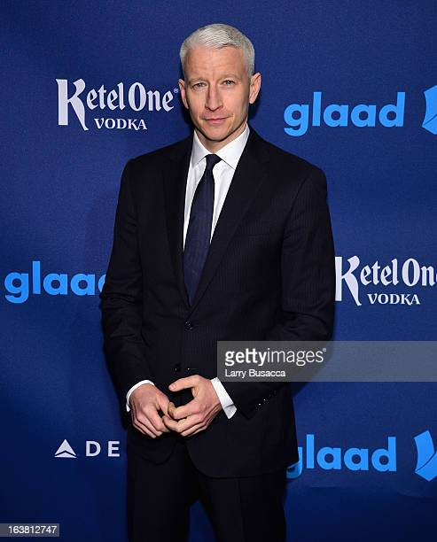 Anderson Cooper attends the 24th Annual GLAAD Media Awards on March 16 2013 in New York City