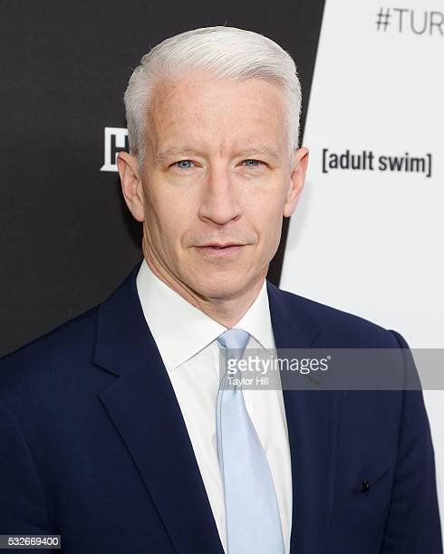 Anderson Cooper attends the Turner Upfront 2016 arrivals at The Theater at Madison Square Garden on May 18 2016 in New York City