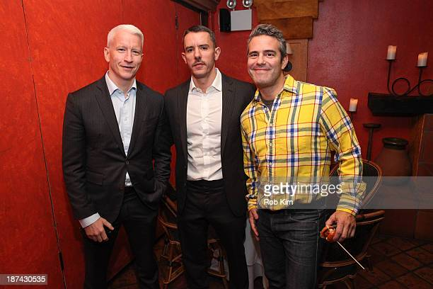 Anderson Cooper Benjamin Maisani and Andy Cohen attend Kathy Griffin's Carnegie Hall Performance official after party hosted by Anderson Cooper at...