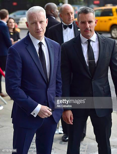 Anderson Cooper Benjamin Maisani are seen on June 16 2015 in New York City