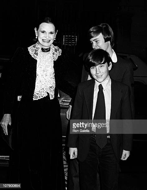 "Anderson Cooper, Carter Cooper and designer Gloria Vanderbilt attending ""Woody Allen New Year's Eve Party"" on December 31, 1979 at Harkness House in..."