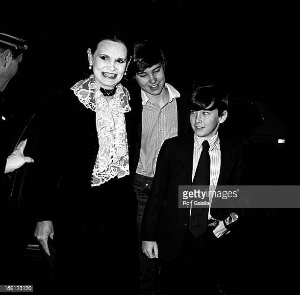 Anderson Cooper, Carter Cooper and designer Gloria Vanderbilt attending 'Woody Allen New Year's Eve Party' on December 31, 1979 at Harkness House in...